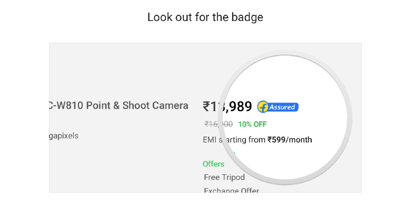 Look for the Flipkart Assured badge