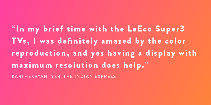 LeEco Super3 TV — The stunning new 4K experience