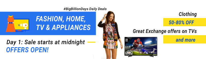 Big Billion Days schedule