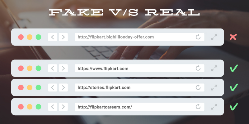 Fake online games - fake Flipkart URLs