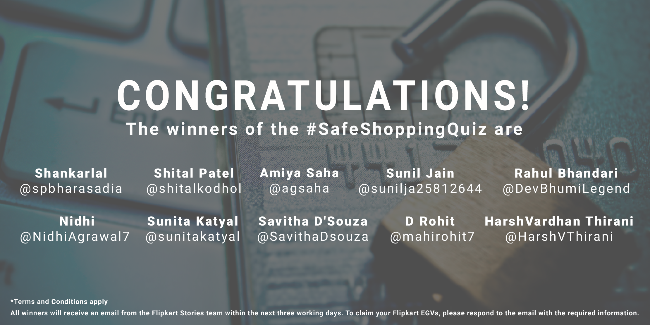 Winners #SafeShoppingQuiz