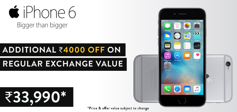 Flipkart mobile exchange - iPhone 6 incredible offers