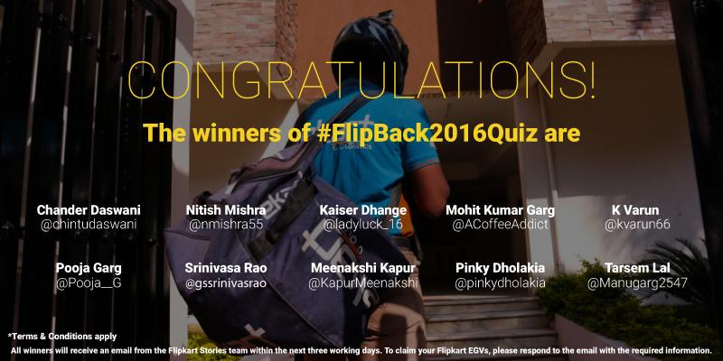 #FlipBack2016Quiz Winners