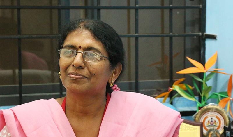 Geetha, Principal at Samarthanam Trust - Holi cards Ekart