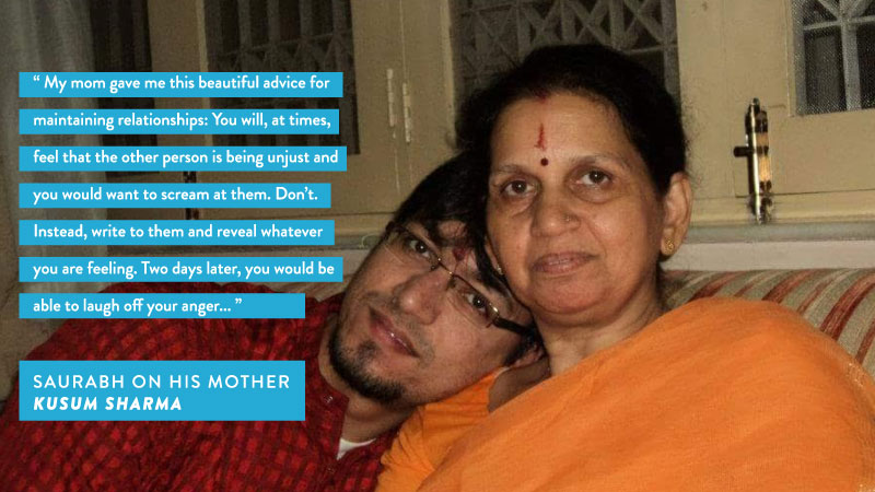 Saurabh Sharma draws inspiration from his mother's advice