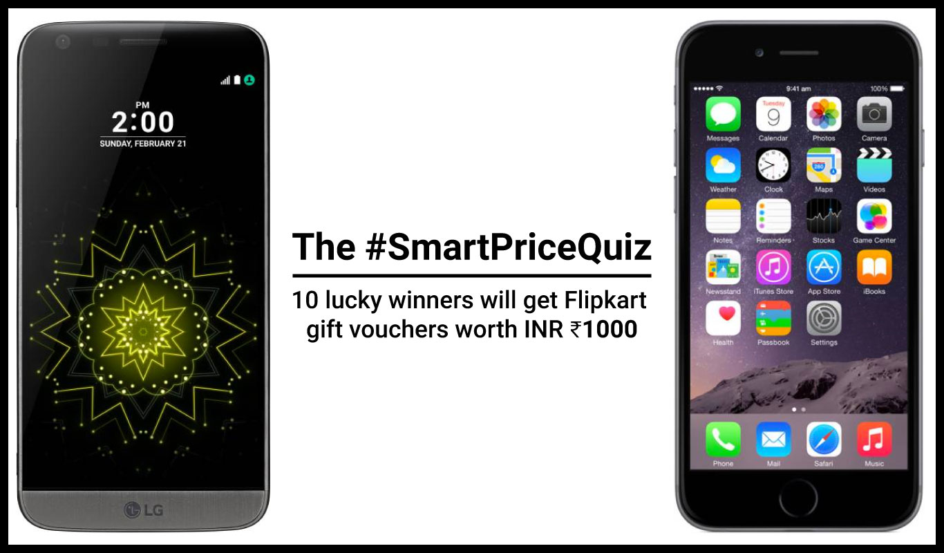 The Flipkart #SmartPriceQuiz on premium smartphones