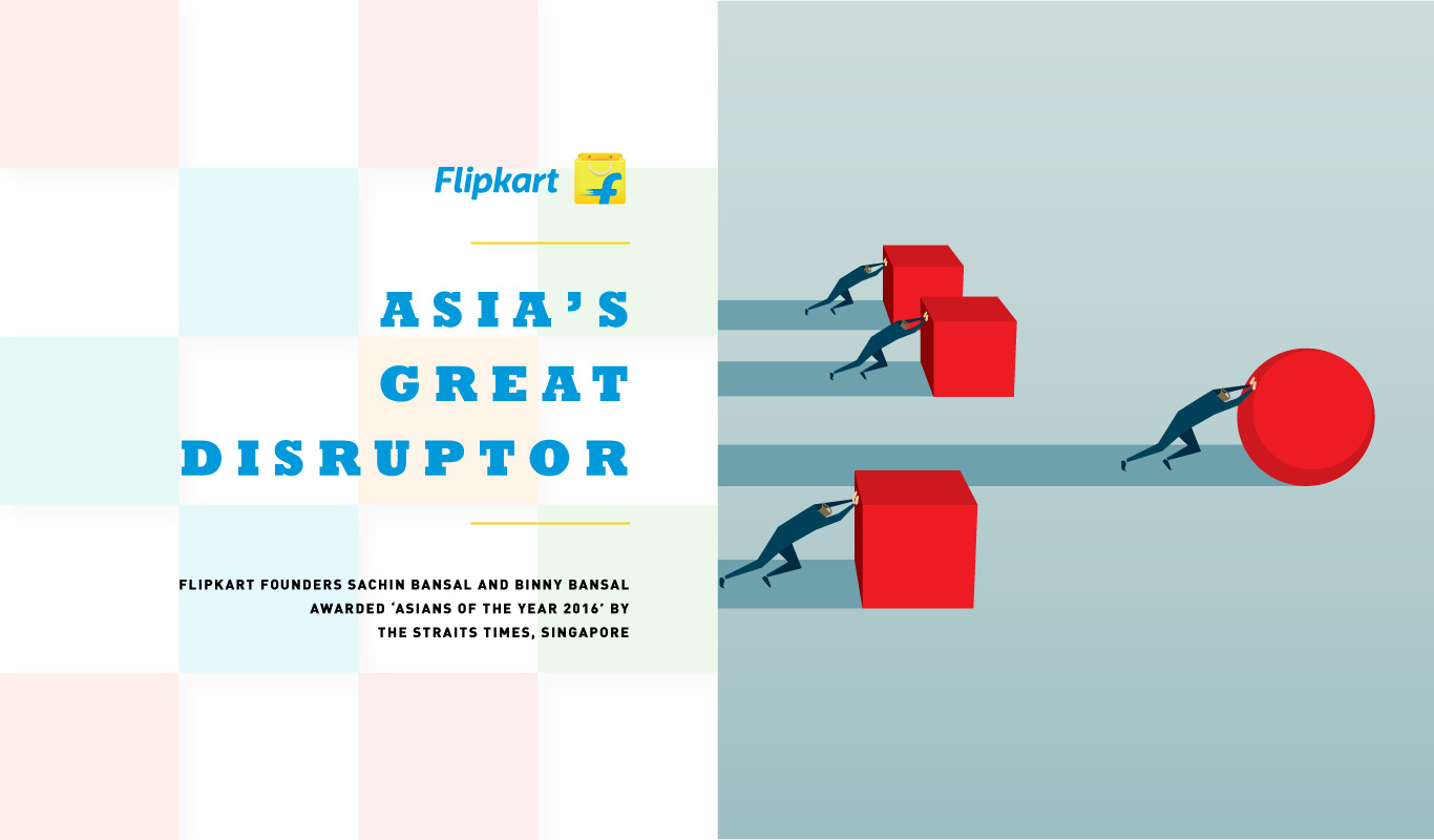 The Disruptors – Asian Of The Year 2016 honors Flipkart founders
