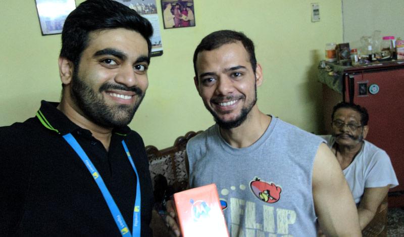 Flipkart Customer Connect - Adhiraj (R) with Flipster Rachit Chaudhary