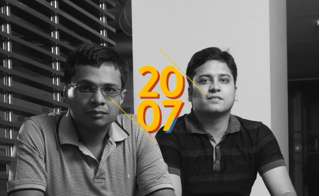 2007   The Flipkart story begins in a Bengaluru apartment