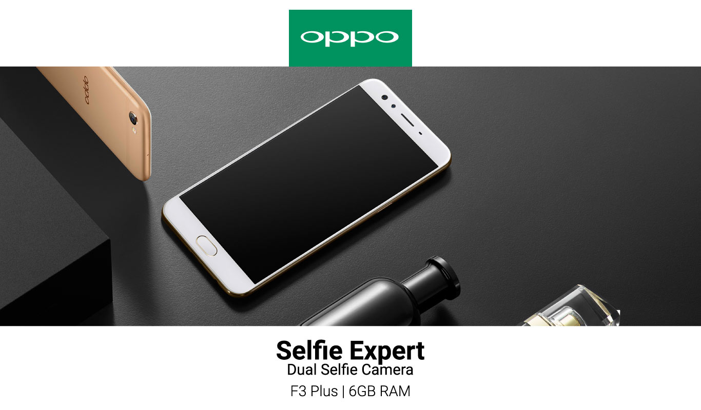 The OPPO F3 Plus with 6GB RAM:  #FlipkartUnique