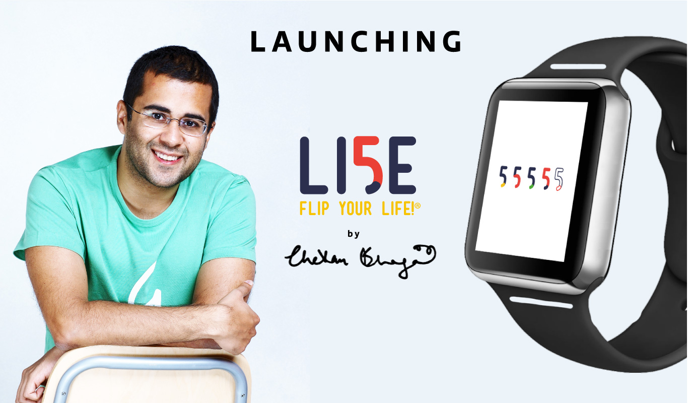 Flipkart and Chetan Bhagat launch LI5E smart wearables