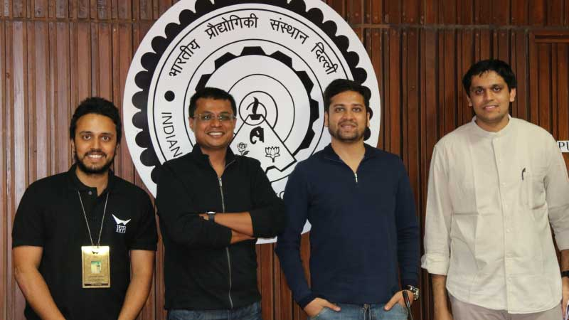 Sachin Bansal and Binny Bansal at Tryst, IIT Delhi
