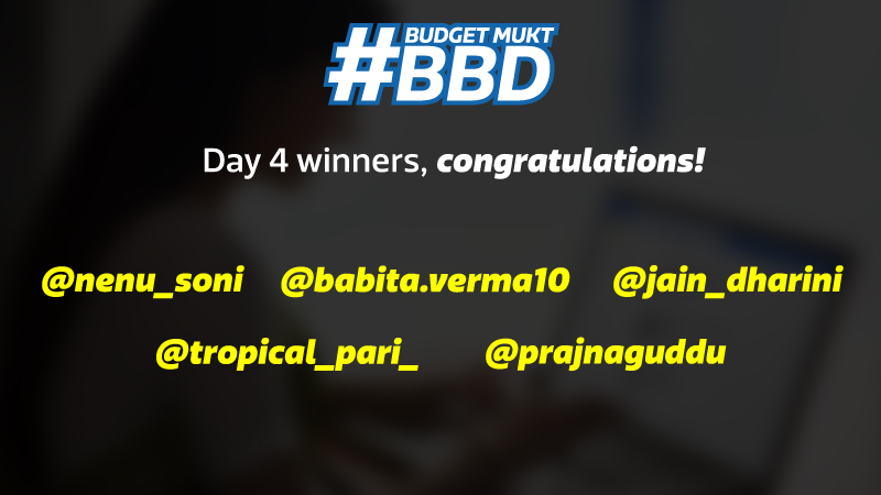 Budget Mukt BBD Instagram Contest Winners Day 4