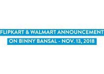 Flipkart and Walmart statement on Binny Bansal – Nov. 13, 2018