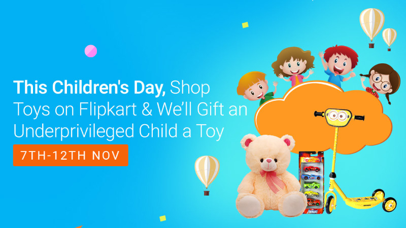 Toys For A Smile – This Children's Day, shop on Flipkart to gift joy to kids in need