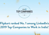 Flipkart ranked No. 1 among LinkedIn Top Companies 2019!