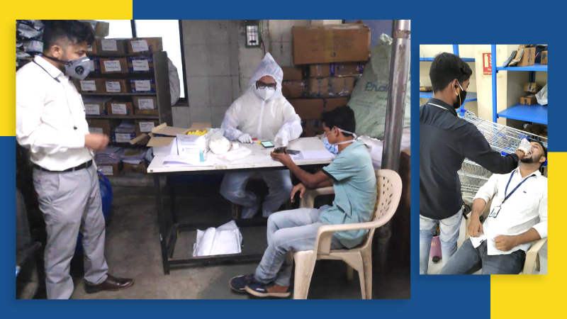 COVID-19 safety coronavirus pandemic precautions at Flipkart facilities