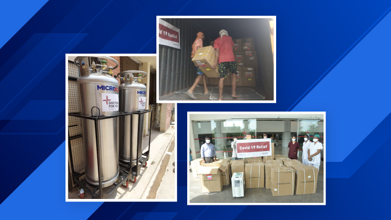 Delivered: All cryogenic liquid containers and oxygen cylinders for COVID-19 relief